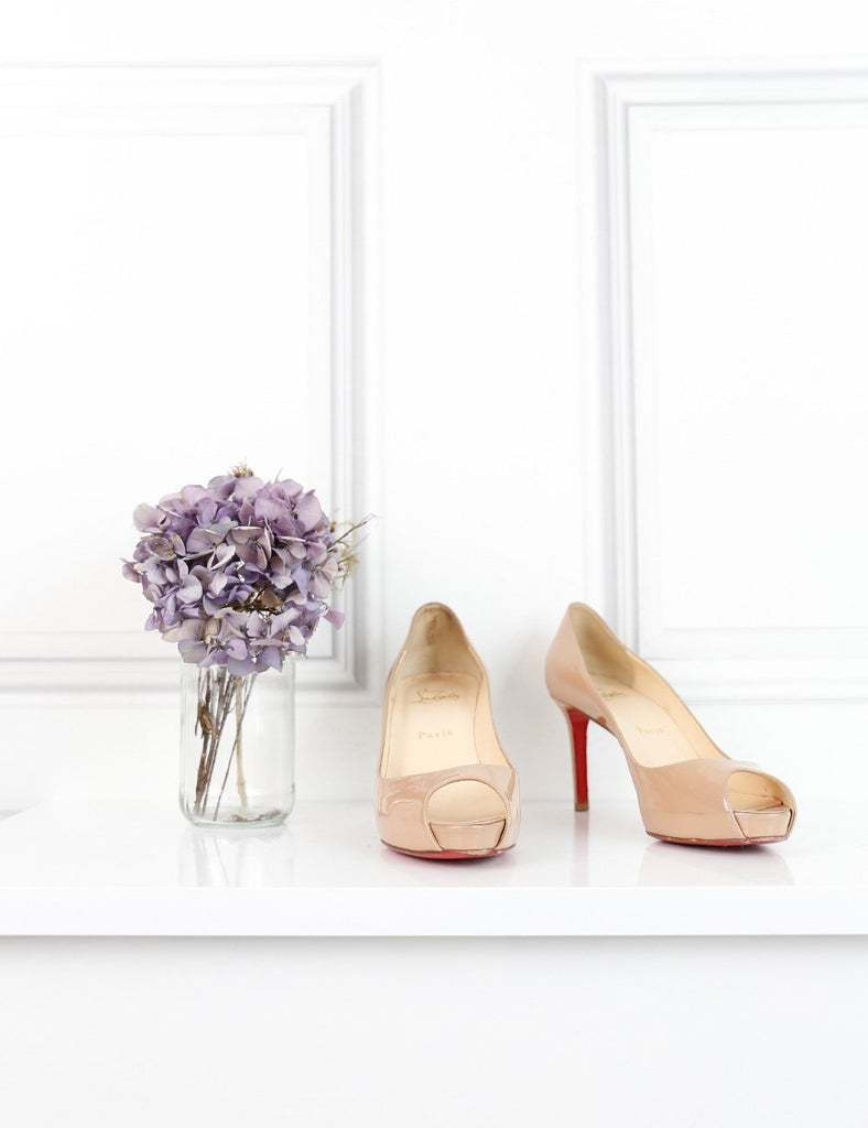 Louboutin nude Very Prive 100 patent pumps 3UK- My Wardrobe Mistakes