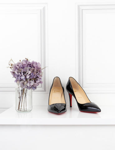 Louboutin black patent Pigalle 85 heel pumps 4UK- My Wardrobe Mistakes