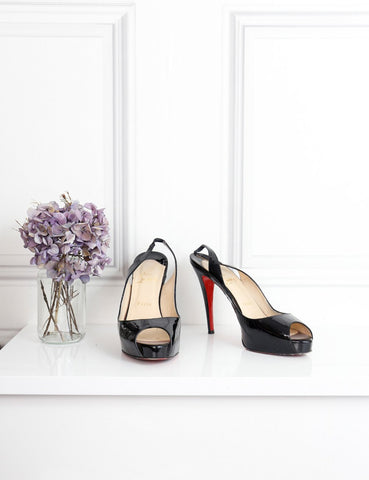 Louboutin Private number 120 patent leather pumps 6.5Uk- My Wardrobe Mistakes