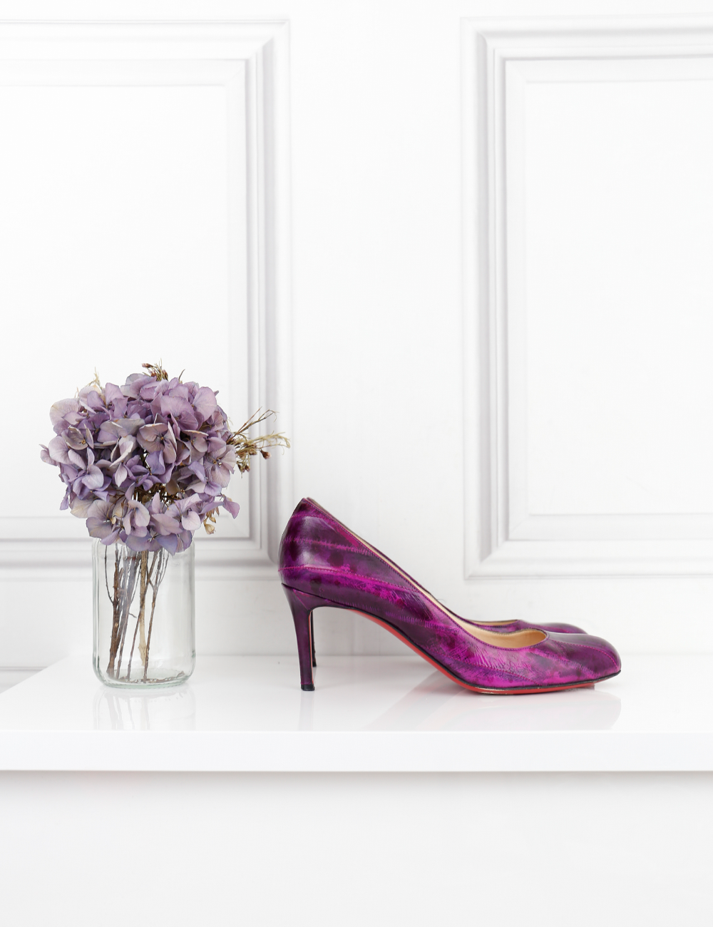 Louboutin purple simple pumps 70 4UK- My Wardrobe Mistakes