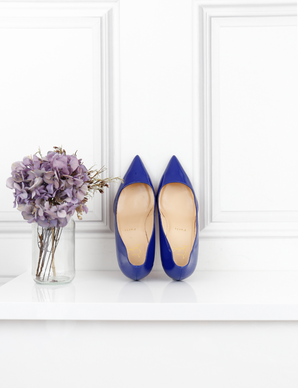 LOUBOUTIN SHOES electric blue Pigalle 85 heel pumps 4UK- My Wardrobe Mistakes