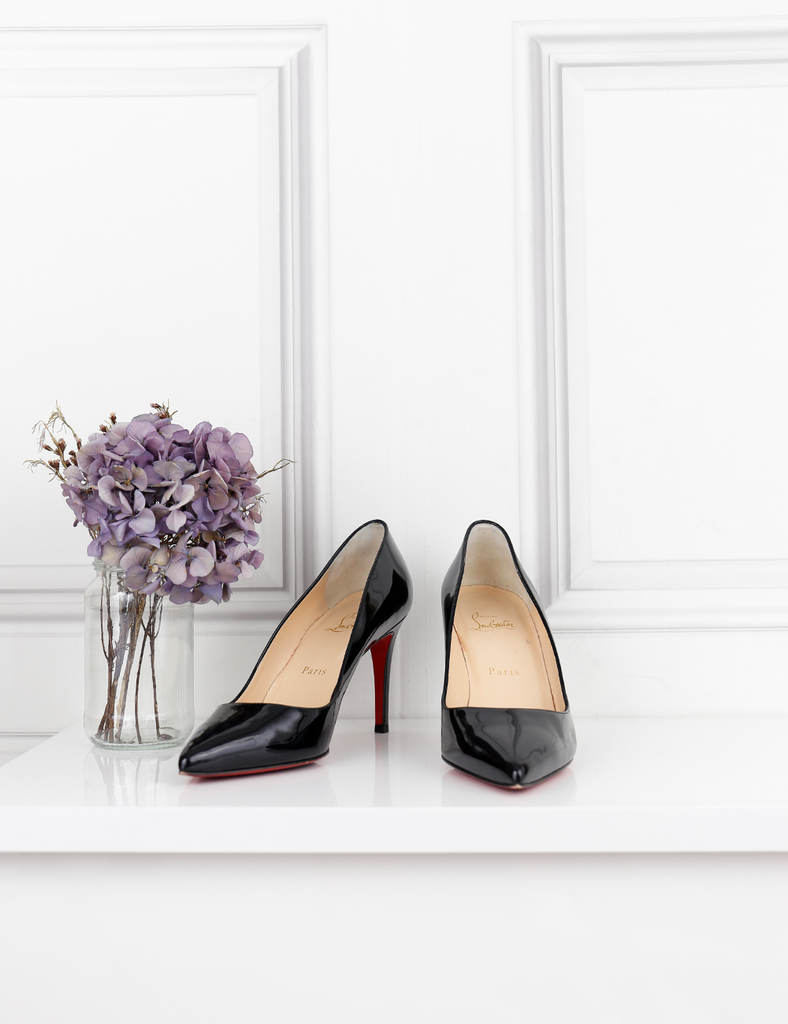 LOUBOUTIN SHOES Pigalle 85 patent leather pumps 4UK- My Wardrobe Mistakes