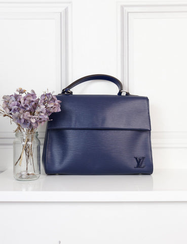 Louis Vuitton blue Cluny mm epi bag- My Wardrobe Mistakes