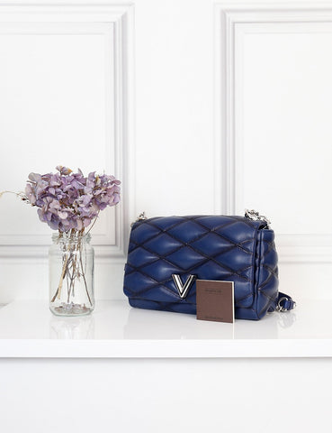 Louis Vuitton blue Go 14 PM Malletage- My Wardrobe Mistakes