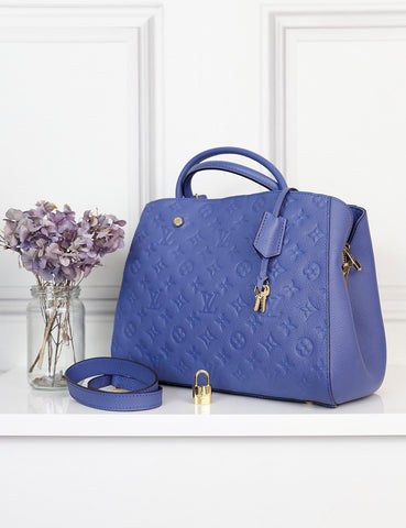 Louis Vuitton blue Montaigne mm bag- My Wardrobe Mistakes