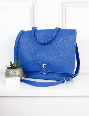 LOUIS VUITTON BAGS One size / Blue LOUIS VUITTON Volta Taurillon Leather Messenger Bag