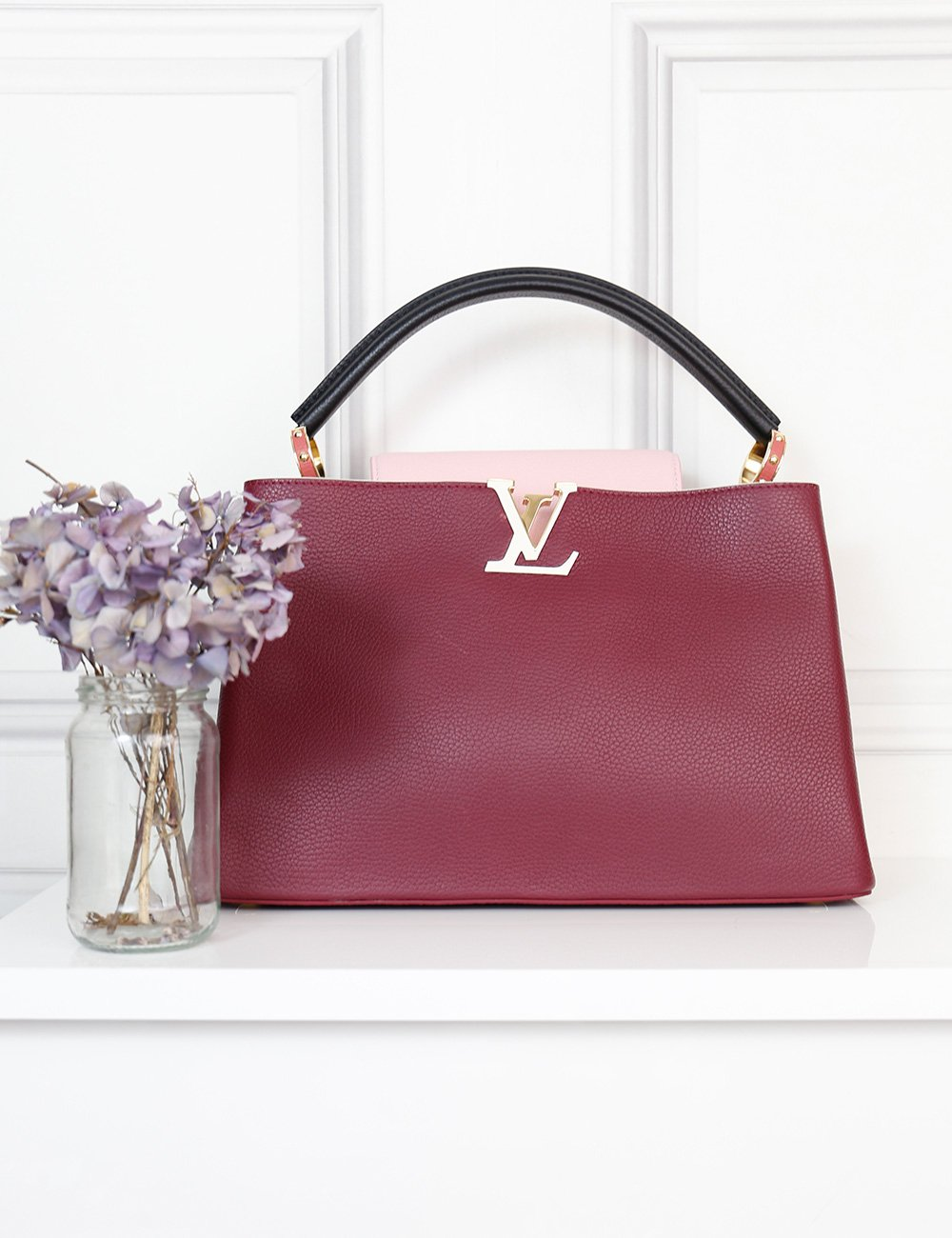 Louis Vuitton Burgundy Capucines Taurillon MM bag- My Wardrobe Mistakes