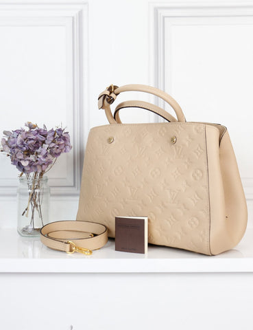 Louis Vuitton cream Montaigne MM bag- My Wardrobe Mistakes