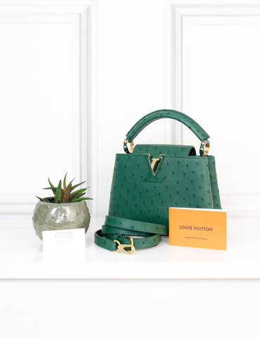 LOUIS VUITTON BAGS One size / Green LOUIS VUITTON Capucines Mini Green Exotic Leather Handbag