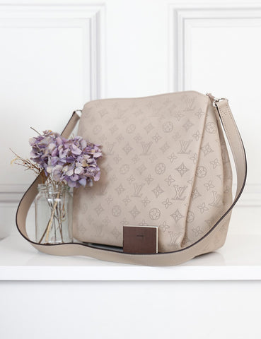 Louis Vuitton grey galet Babylone PM Mahina bag