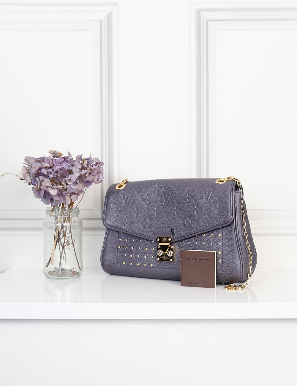 Louis Vuitton St Germain pm grey studded bag- My Wardrobe Mistakes