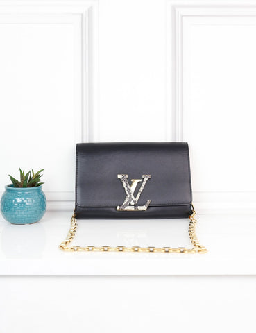 LOUIS VUITTON BAGS One size / Multicolour LOUIS VUITTON Chain Louise Bag with Python Clasp