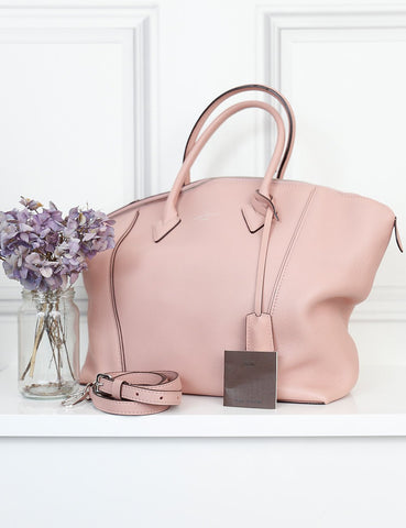 Louis Vuitton pink Soft Lockit MM bag- My Wardrobe Mistakes