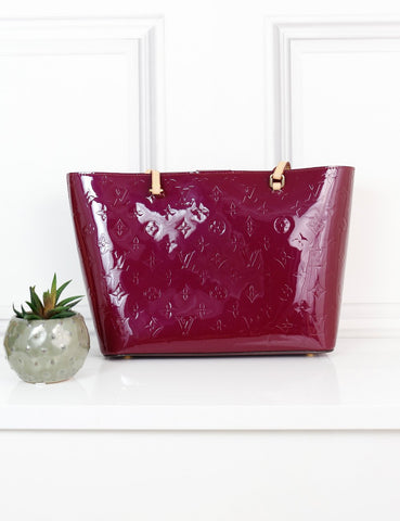 LOUIS VUITTON BAGS One size / Pink LOUIS VUITTON Vernis Long Beach Tote Bag Magenta