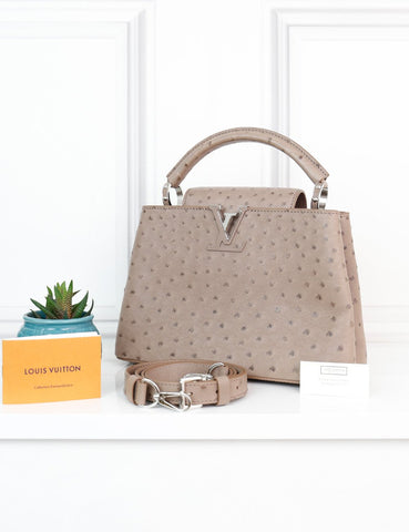LOUIS VUITTON BAGS One size / Taupe LOUIS VUITTON Capucines BB Taupe Exotic Leather Handbag
