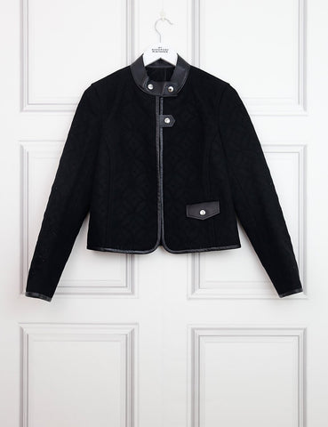 LOUIS VUITTON CLOTHING 10UK-42IT-38FR / Black LOUIS VUITTON Logo perforated Jacket