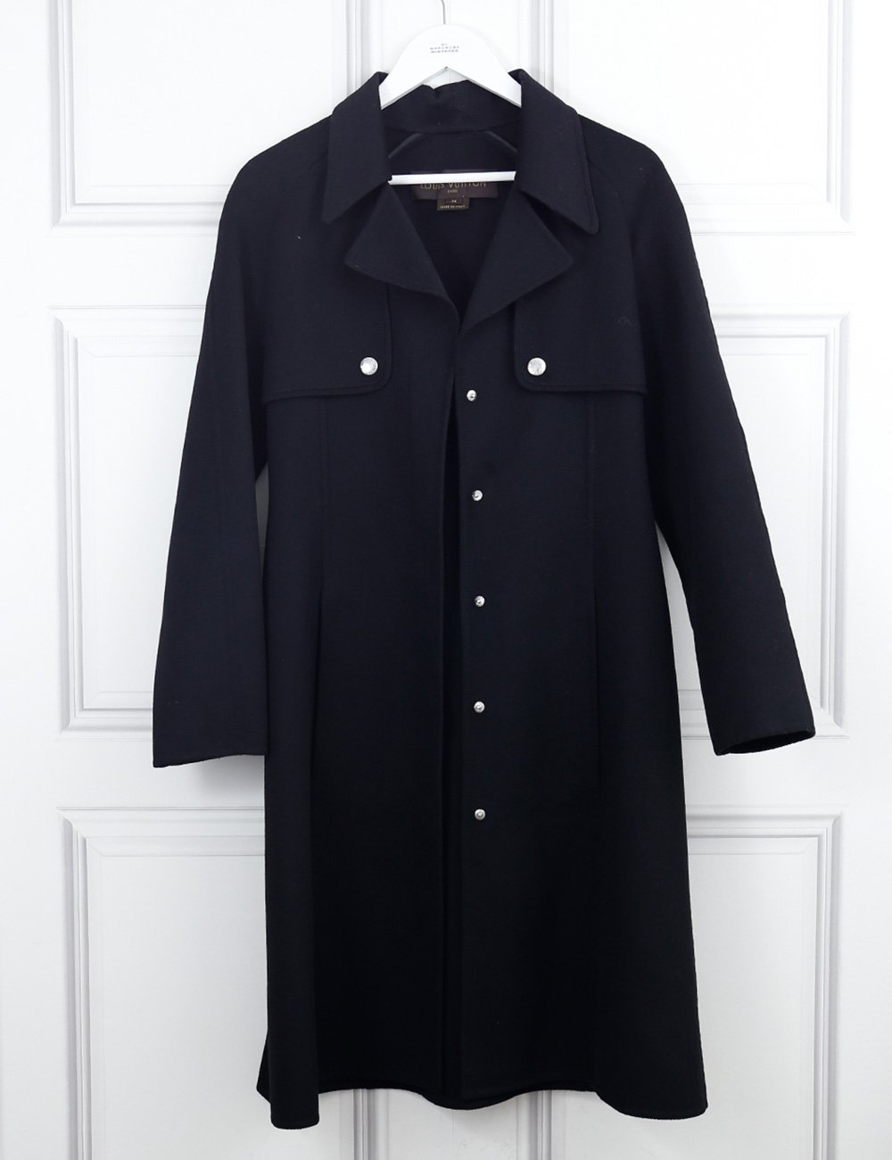 LOUIS VUITTON CLOTHING 8UK-40IT-36FR / Black LOUIS VUITTON Long cashmere coat