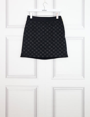 LOUIS VUITTON CLOTHING 8UK-40IT-36FR / Black LOUIS VUITTON Skirt with embroidered beads