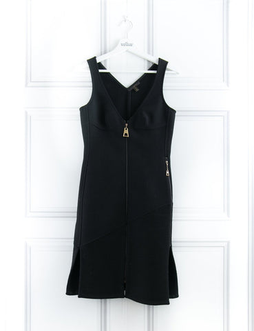 LOUIS VUITTON CLOTHING Structured zip detail textured black dress- My Wardrobe Mistakes