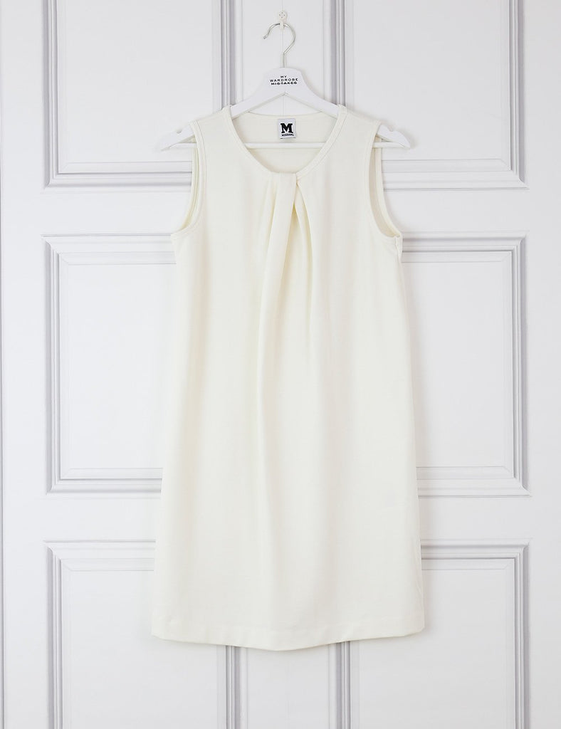 M BY MISSONI CLOTHING 10UK-42IT-38FR / Ivory M MISSONI Sleeveless draped dress