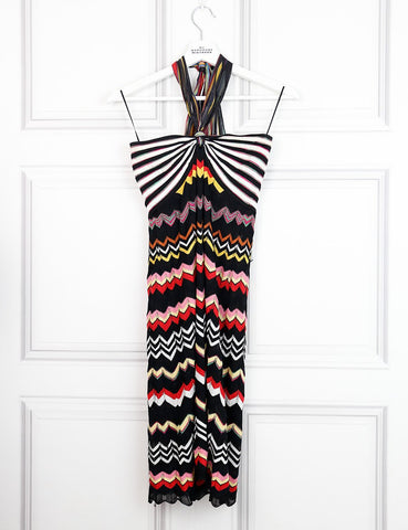 M by Missoni multicolour halterneck dress with signature print 10UK- My Wardrobe Mistakes