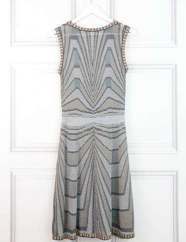 M by Missoni multicolour signature print sleeveless dress 10 UK- My Wardrobe Mistakes