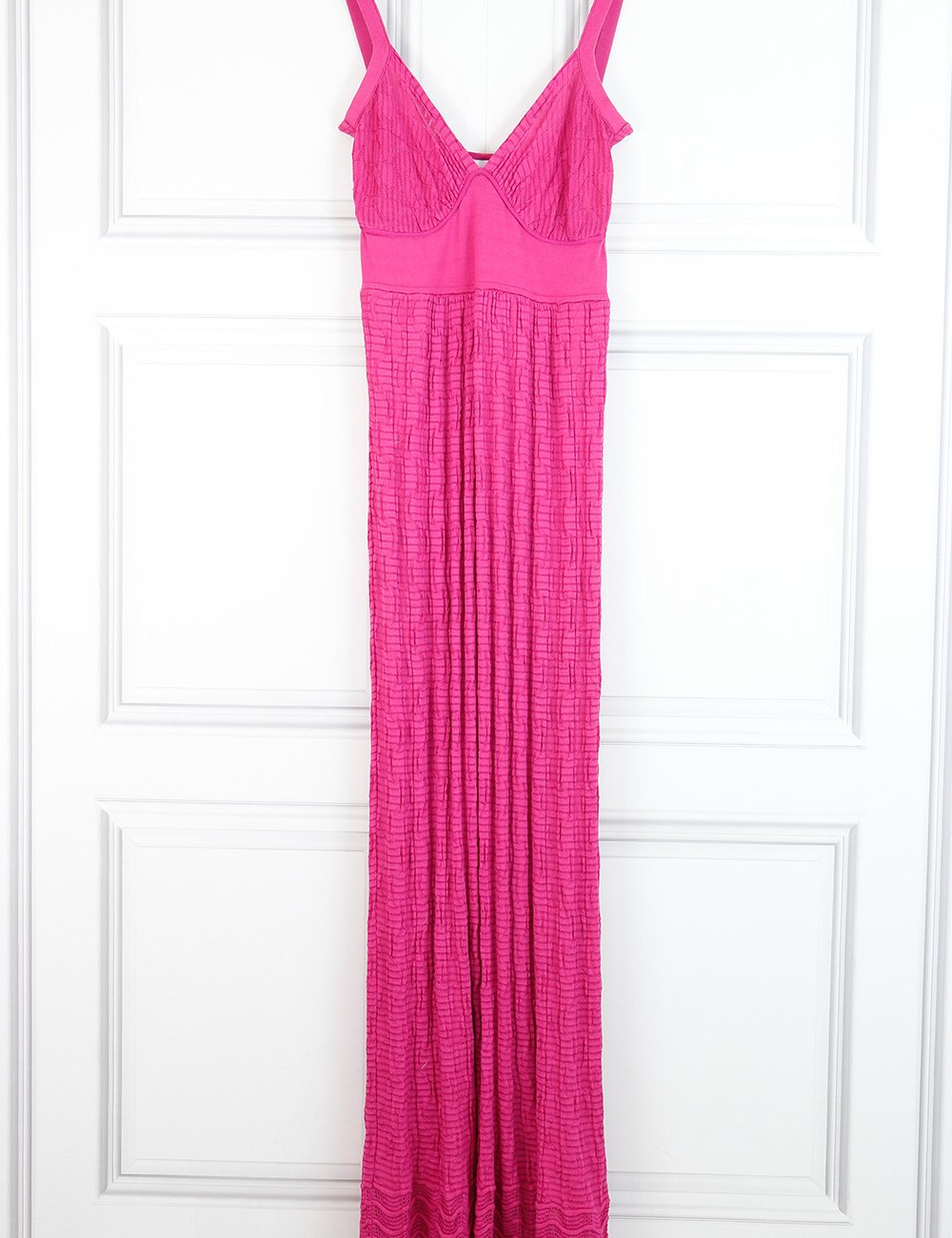M by Missoni pink maxi sleeveless dress 8UK- My Wardrobe Mistakes