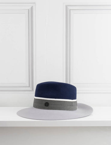 MAISON MICHEL ACCESSORIES Bicolor Rabbit Felt Hat Virginie