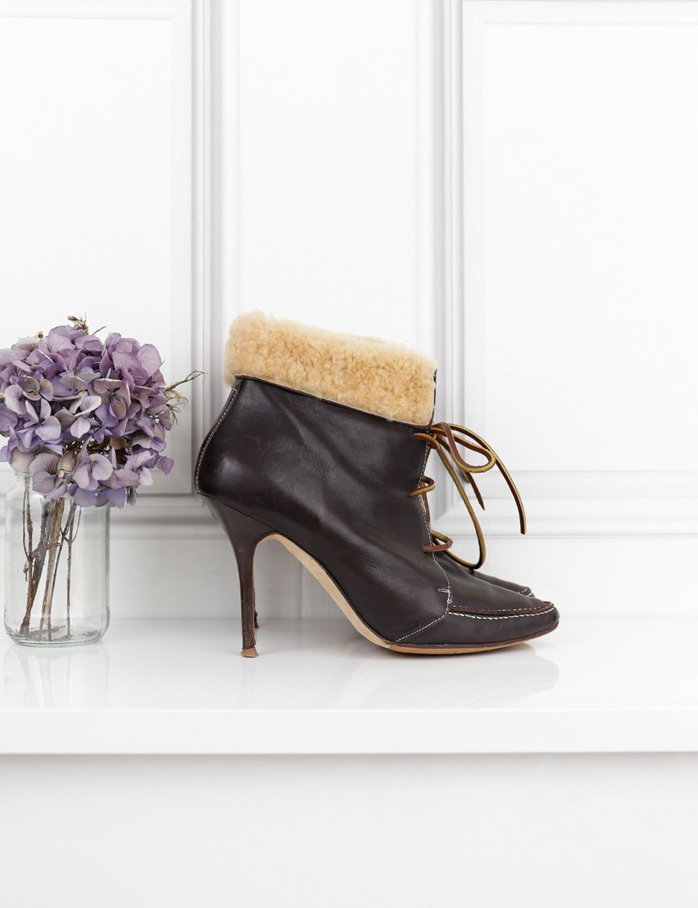 MANOLO BLAHNIK SHOES 7.5UK-40.5IT-41.5FR / Brown MANOLO BLAHNIK Heels ankle boots