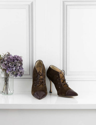 MANOLO BLAHNIK SHOES brown Oxford heel shoes 5UK- My Wardrobe Mistakes