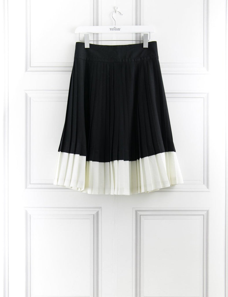 MARC BY MARC CLOTHING White Tara Pleated Skirt