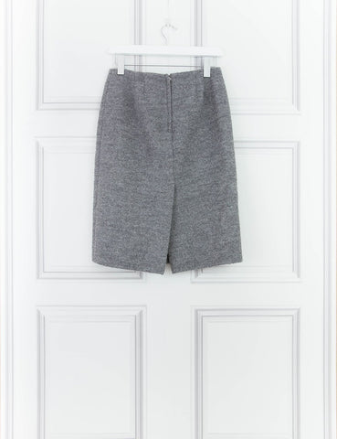 MARC BY MARC CLOTHING GREY WoolLen Pencil Skirt 8UK- My Wardrobe Mistakes