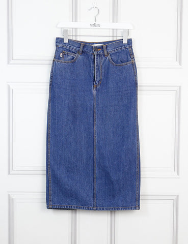 Marc Jacobs blue denim pencil skirt 8Uk- My Wardrobe Mistakes