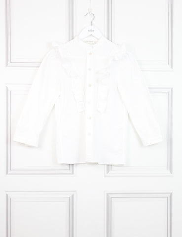 Marc Jacobs white shirt with frills 6UK- My Wardrobe Mistakes