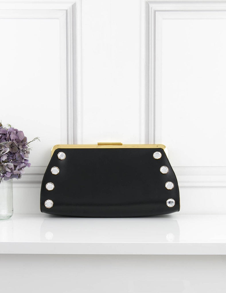 second hand clutch with 8 rhinestones for sale