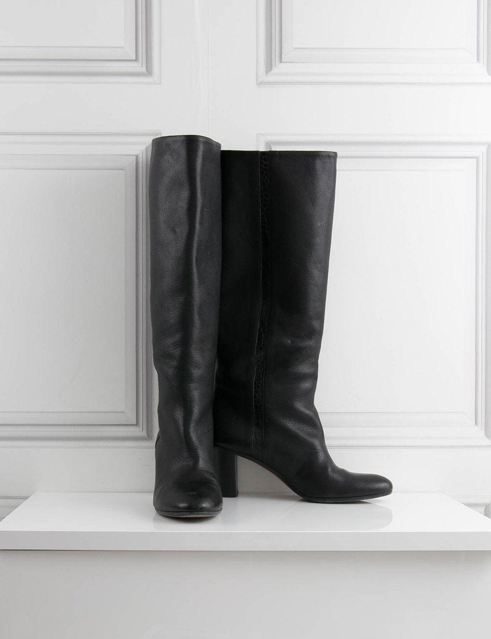 MARTIN MARGIELA SHOES Knee high leather boots