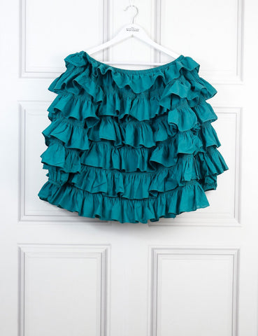 Merlette green Galapagos off the shoulder ruffle blouse 8 Uk