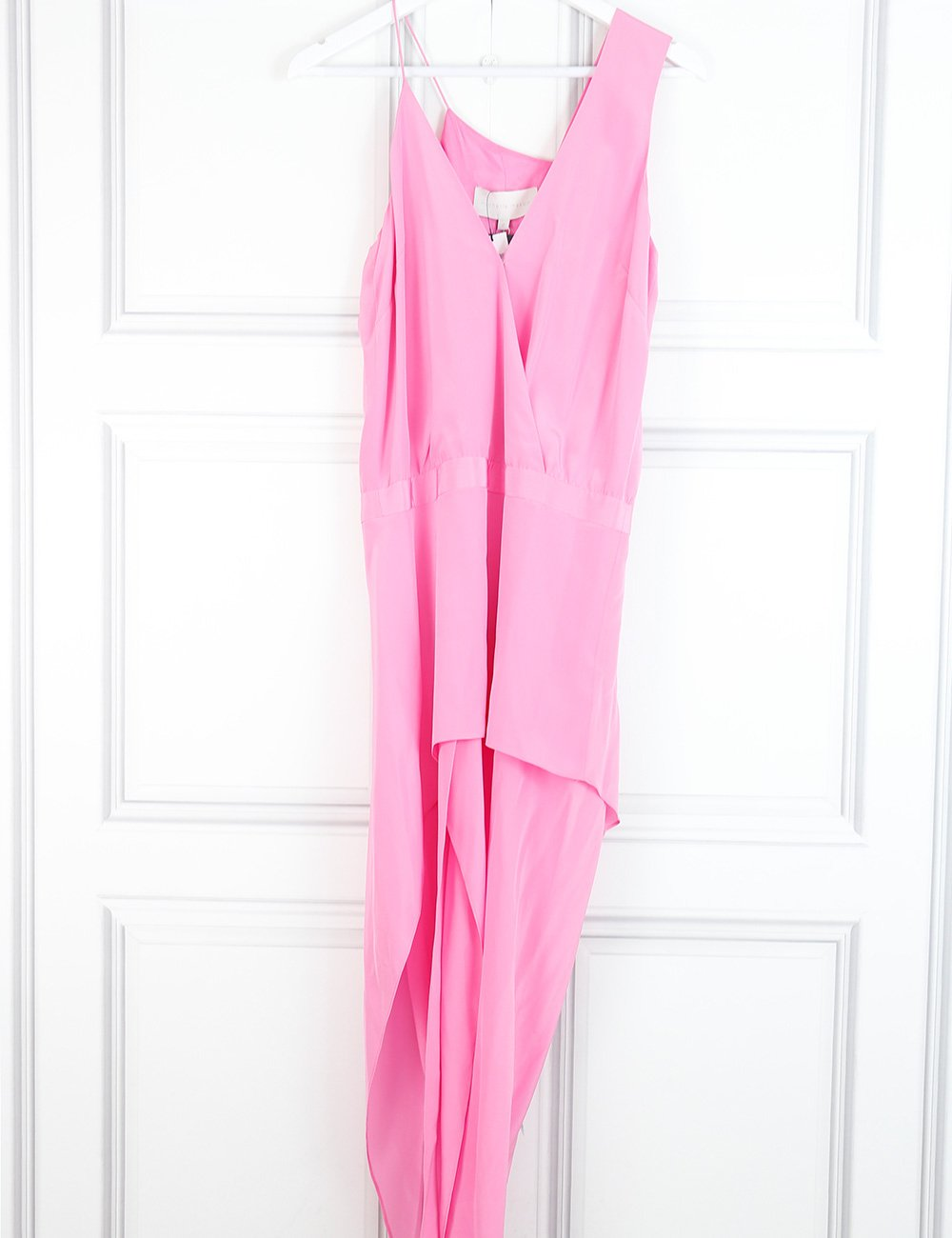 Michelle Mason pink silk asymmetrical dress 8UK- My Wardrobe Mistakes