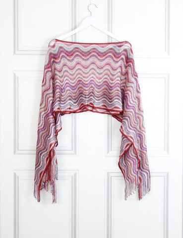 Missoni multicolour signature print knit poncho- My Wardrobe Mistakes