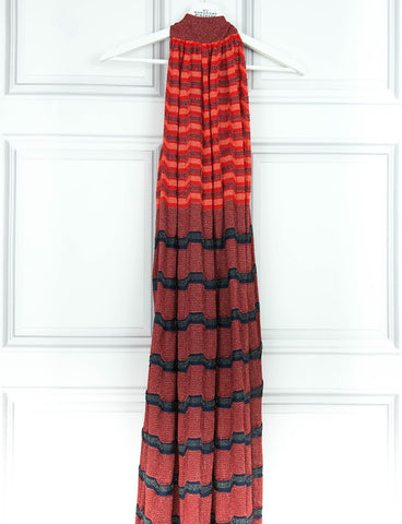 MISSONI CLOTHING Woven signature print halter neck dress