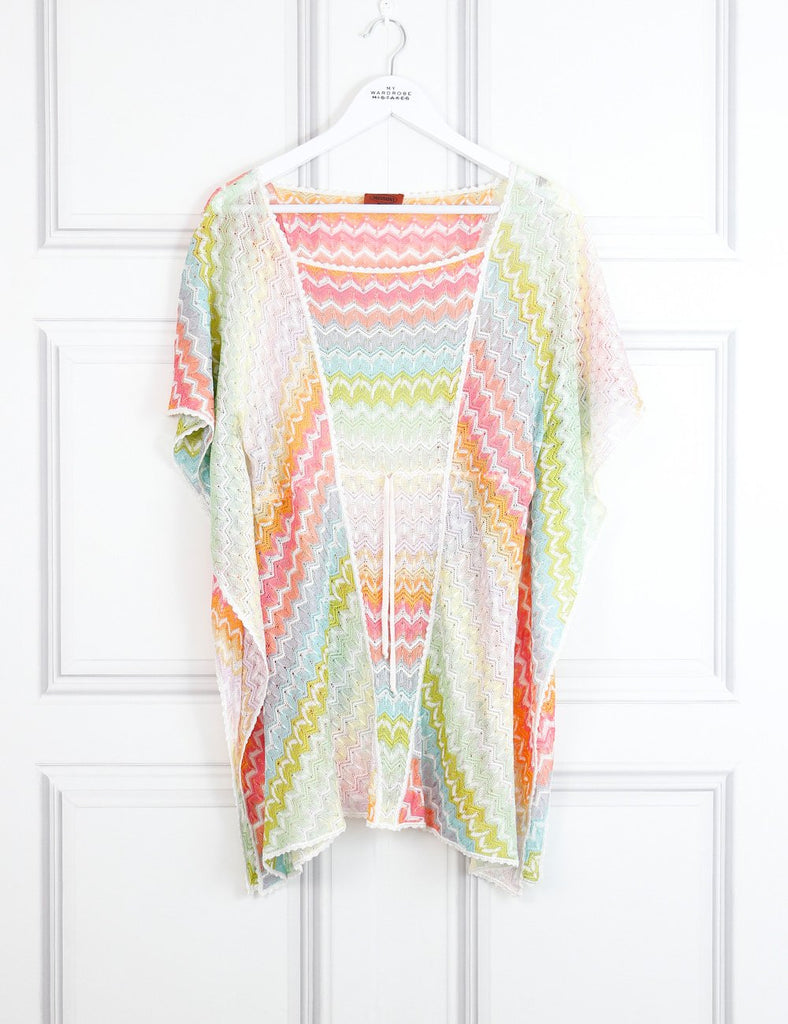 Missoni Mare multicolour beach cover up with signature print 8Uk- My Wardrobe Mistakes