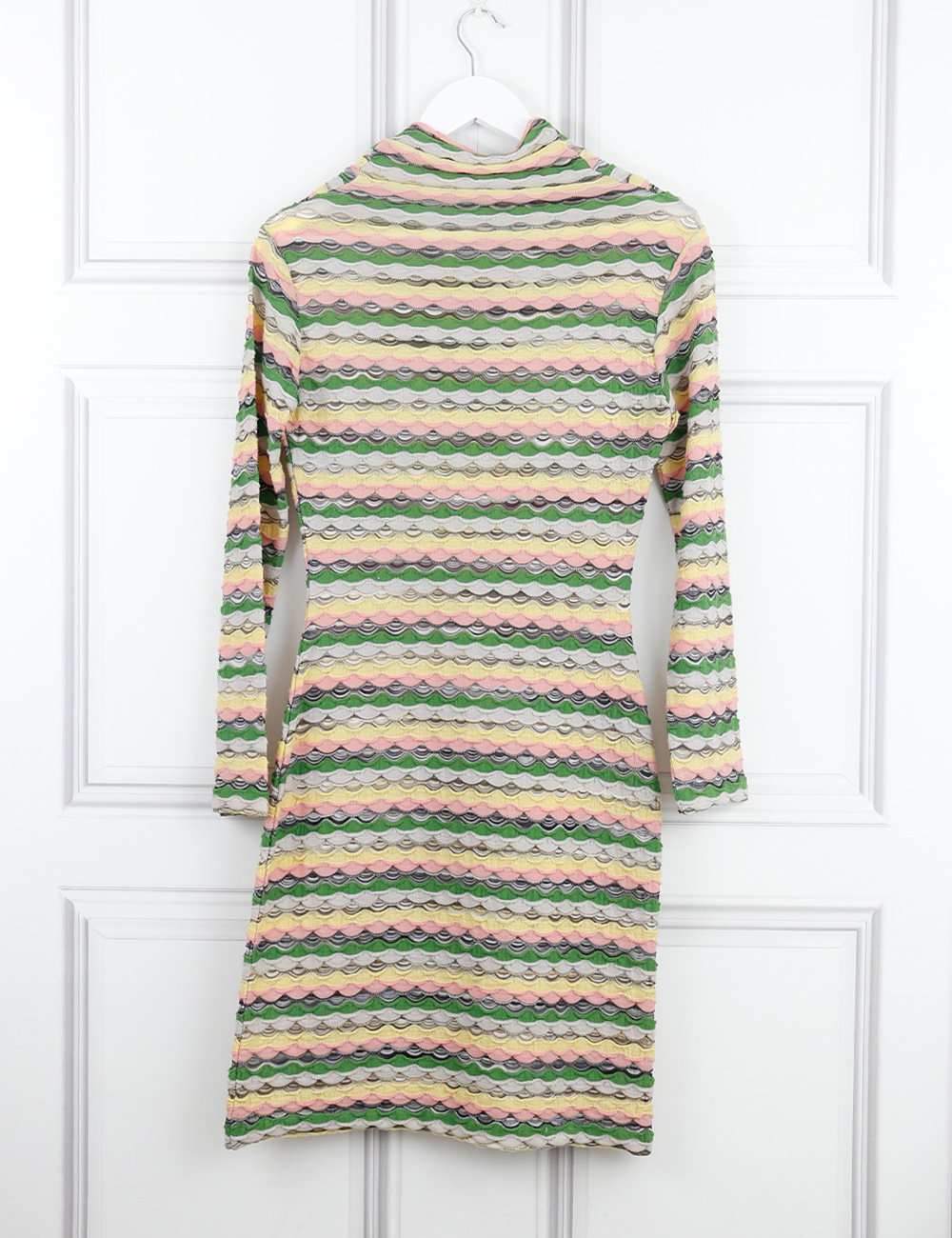 MISSONI SPORT CLOTHING 10UK-42IT-38FR / Multicolour MISSONI SPORT High-neck dress with signature print