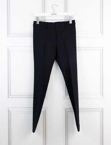 Miu Miu black wool tailored trousers with besom pockets 6Uk- My Wardrobe Mistakes