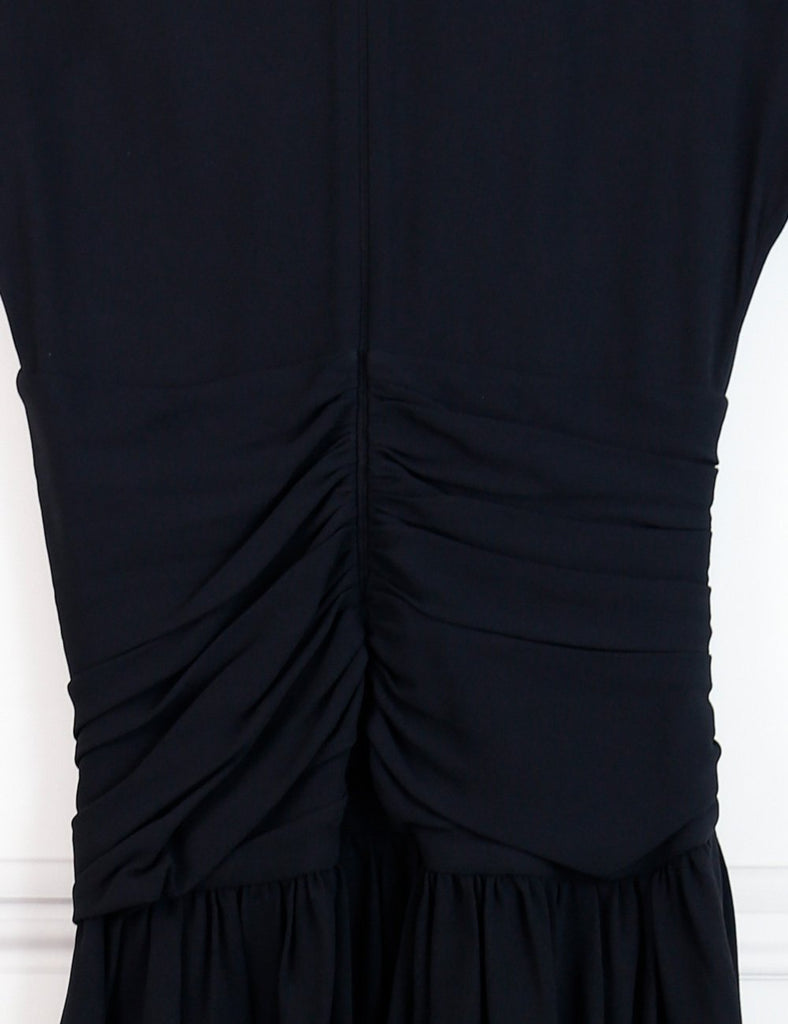 Miu Miu black short pleated dress 8UK- My Wardrobe Mistakes