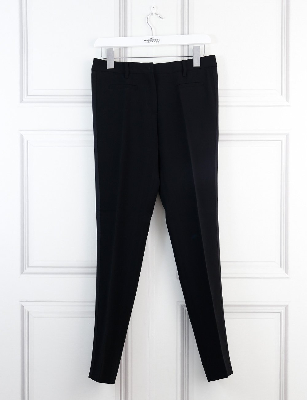 Miu Miu black tailored trousers with panels on the side 8Uk