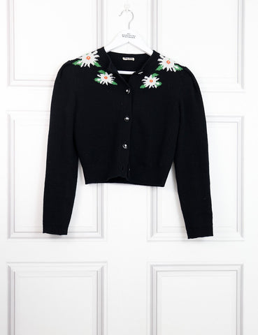 Miu Miu multicolour Edelweiss cropped cardigan 6UK- My Wardrobe Mistakes