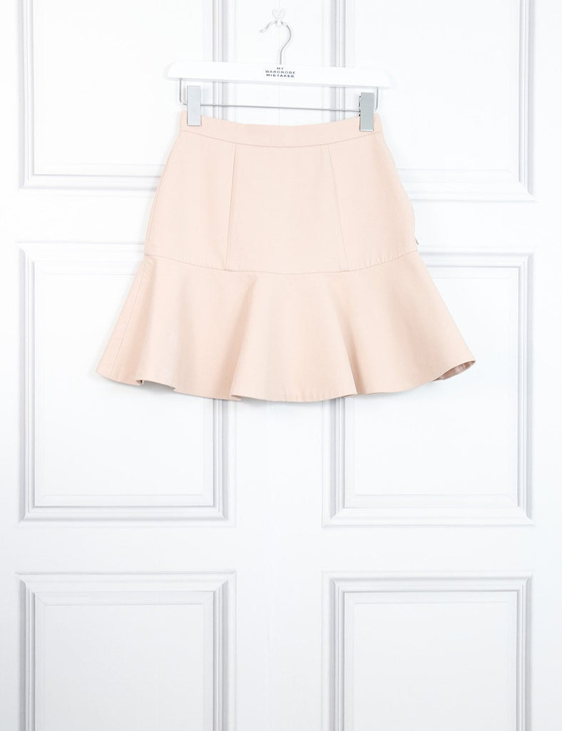 Miu Miu pink mini peplum skirt 6UK- My Wardrobe Mistakes