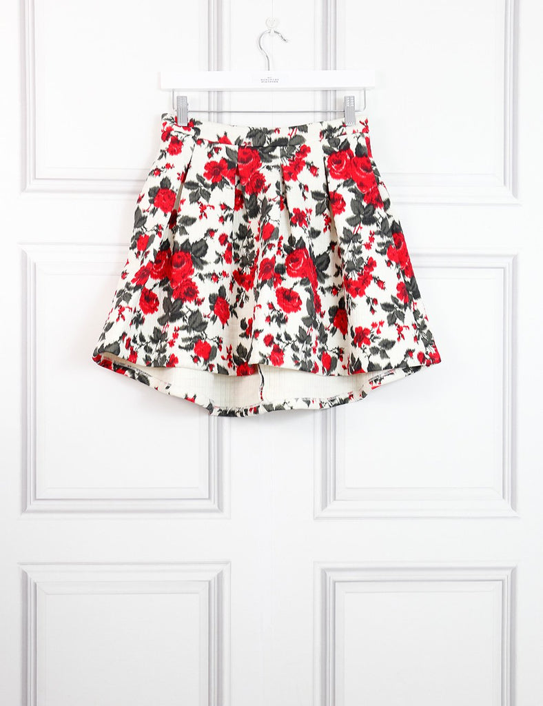 MSGM multicolour skirt with roses motives 10 Uk- My Wardrobe Mistakes
