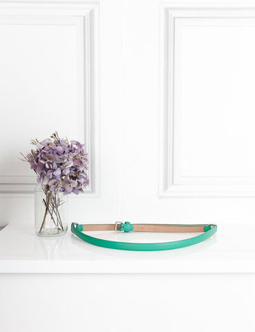 Mulberry green articulated thin belt 85- My Wardrobe Mistakes