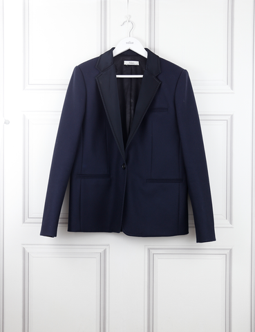 Mulberry blue classic woollen jacket- My Wardrobe Mistakes